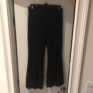 Zara Woman black Capri pants